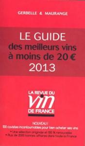 Guide RVF 2013 des meilleurs vins à moins de 20 €